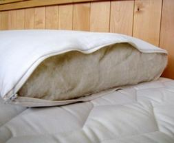 Latex Wool Bed Pillow Holy Lamb Organics Wrapped Eco-Wool US