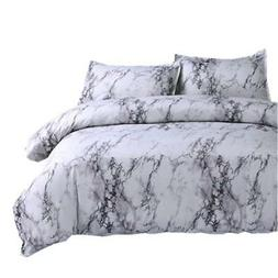 NTBED Marble Pattern Duvet Cover Set Full with 2 Matching Pi