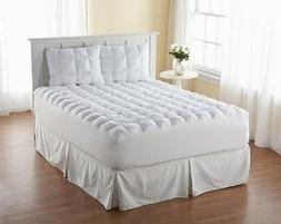 King Size Down-Alternative Gusseted Mattress Bed Topper Pad