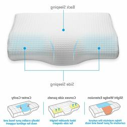 Memory Foam Bed Pillow, Orthopedic, Hypoallergenic, Back & S