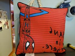 NEW Jay Franco Marvel Hang in there Spiderman Pillow