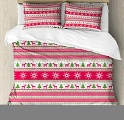 Nordic Duvet Cover Set with Pillow Shams Needlework Style Xm