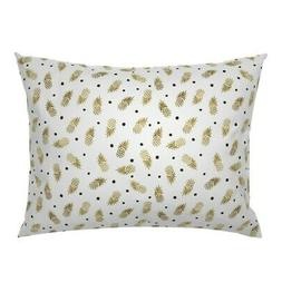 Nursery Baby Gold Pineapples Dot Coordinate Pillow Sham by R