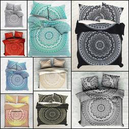 Ombre Mandala Bedding Queen Size Duvet Cover With Pillow Cov