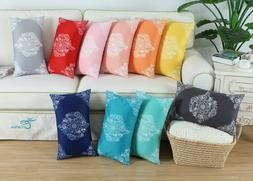 Pack of 2 Bolster Pillow Cases Covers for Couch Bed Sofa Man