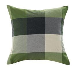 Chezmoi Collection Plaid Decorative Sage Green Gray Pillow/C