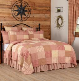 SAWYER MILL RED QUILT -choose size & accessories-Farmhouse B