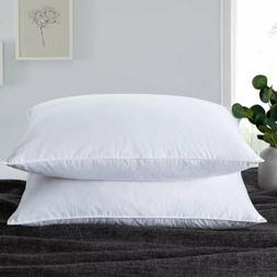 Set of 2 Puredown Natural Fill Down Duck Feather Soft Bed Pi