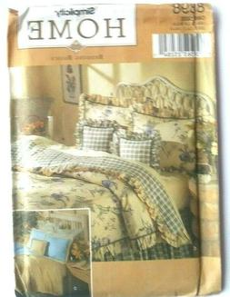 SIMPLICITY SEWING PATTERN 8898 HOME BEDDING BASICS PILLOWS S