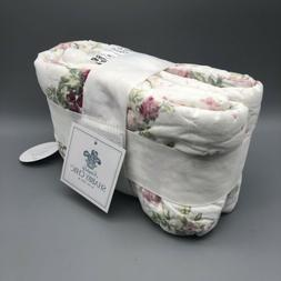Simply Shabby Chic White Blooming Blossoms Floral Pillow Sha