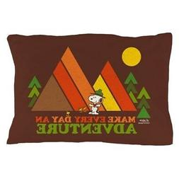 CafePress Snoopy Make Every Day An Adventure Pillow Case