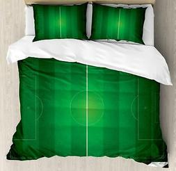 Soccer Duvet Cover Set Twin Queen King Sizes with Pillow Sha