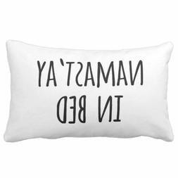 throw pillow cover funny typography quote namastay