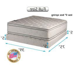 Beddings4Less Two-Sided Full Size PillowTop Mattress and Low