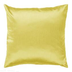 """Yellow Cover Case Decorative Pillow Zippered Closure 18"""" x 1"""